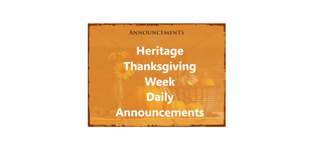 Daily Announcements Tuesday  11/24/2020